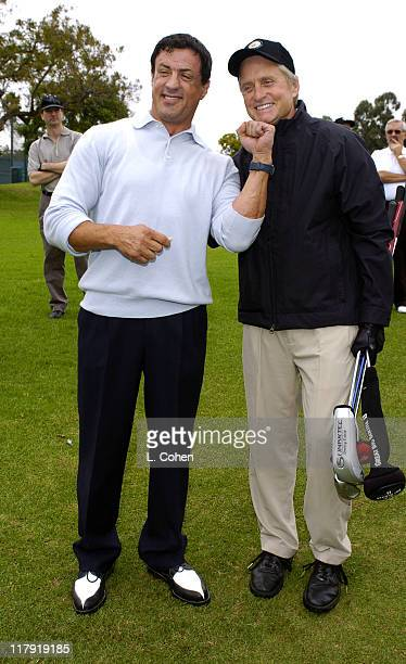 Sylvester Stallone and Michael Douglas at the 6th Annual Golf Classic benefiting the Elizabeth Glaser Pediatric AIDS Foundation