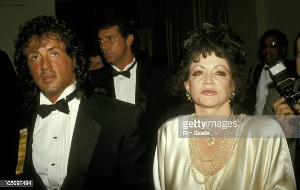Sylvester Stallone And Mother Jackie Stallone
