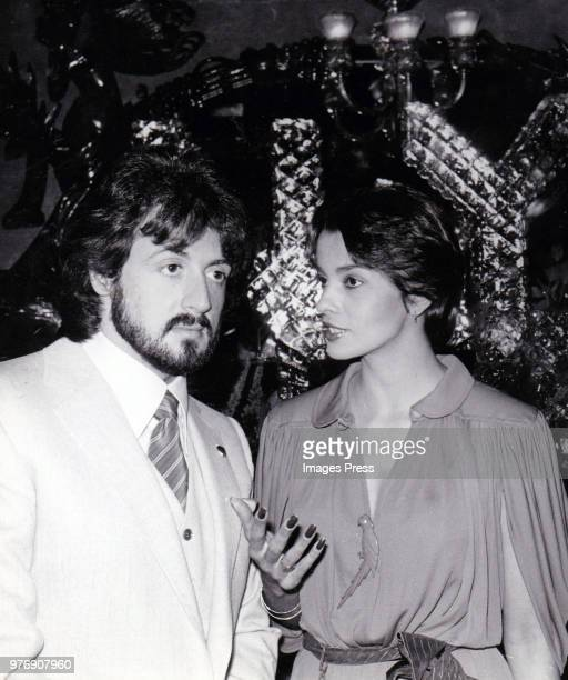 Sylvester Stallone and Persis Khambatta circa 1980 in New York