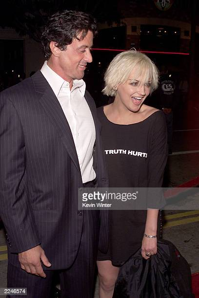 Sylvester Stallone and Rachael Leigh Cook at the premiere of 'Get Carter' at the Bruin Theater, Westwood, Ca. 10/4/00. Photo by Kevin...