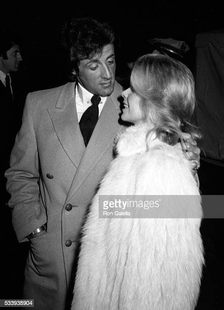 Sylvester Stallone and Sasha Czack attend Jane Wooster Scott Art Exhibit Opening on April 1 1982 at the De Ville Galleries in Beverly Hills California