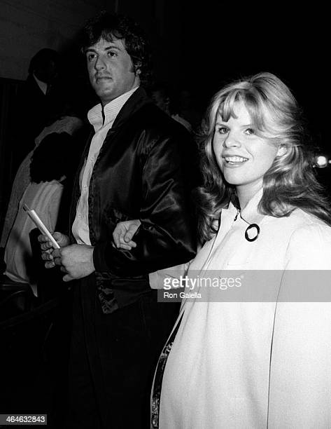 Sylvester Stallone and Sasha Czack attend the preview party for They Shoot Horses Don't They on April 4 1979 at the American Legion in Hollywood...
