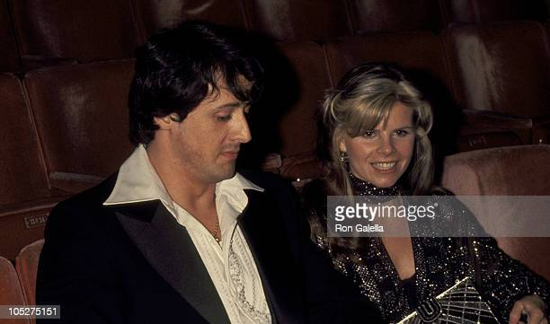 Sylvester Stallone And Sasha Czack Stallone during 49th Annual Academy Awards at Dorothy Chandler Pavillion in Los Angeles California United States