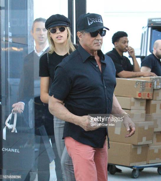 Sylvester Stallone and Sistine Rose Stallone are seen on December 20 2018 in Los Angeles CA