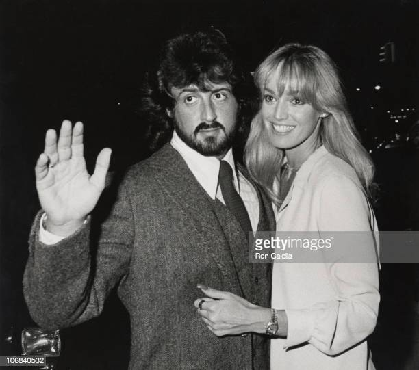 Sylvester Stallone and Susan Anton during Sylvester Stallone Sighting at the Regency Hotel in New York City November 25 1979 at Regency Hotel in New...