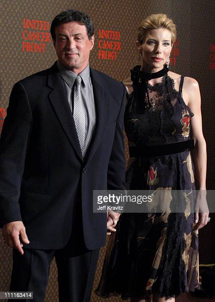 Sylvester Stallone and wife Jennifer Flavin during 2nd Annual Louis Vuitton United Cancer Front Gala Arrivals at Universal Studios in Universal City...