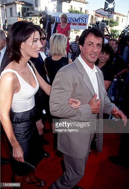 Sylvester Stallone and wife Jennifer Flavin during Premiere of Control at Westwood in Westwood CA United States