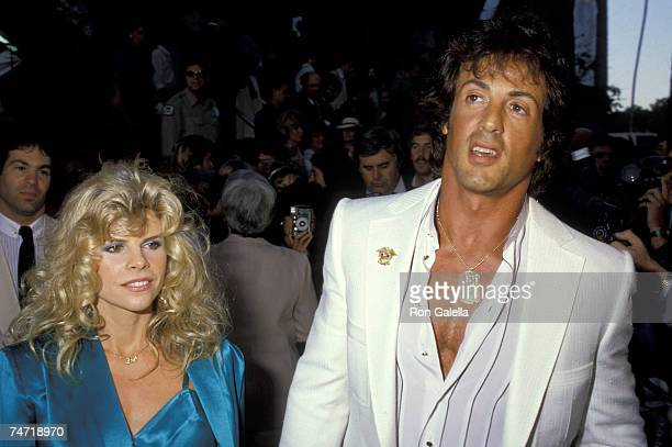 Sylvester Stallone And Wife Sasha Czack Stallone at the Avco Theaters in Westwood California