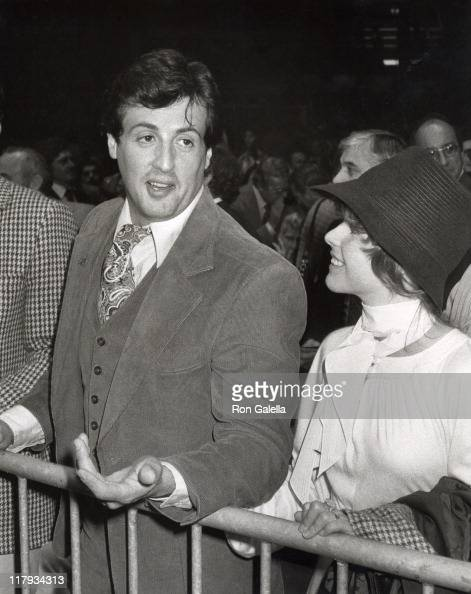 Sylvester Stallone and Wife Sasha Czack Stallone during ...