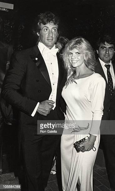 Sylvester Stallone and Wife Sasha Czack Stallone during Rhinestone New York City Premiere at Coronet Theater in New York City NY United States