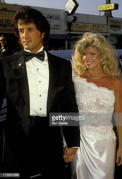 Sylvester Stallone And Wife Sasha Czack Stallone during Rhinestone Los Angeles Premiere at Coronet Theater in New York City New York United States