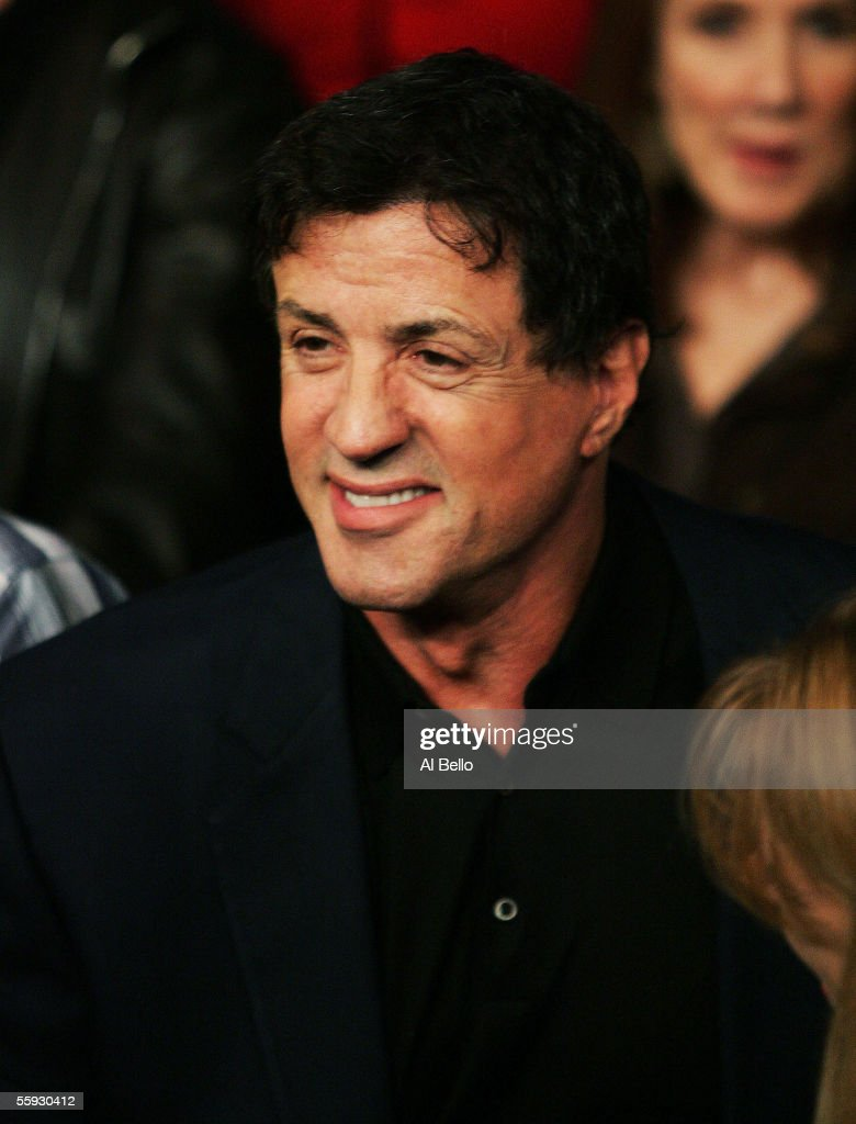 Sylvester Stallone appears ringside for the fight between Sergio Mora and Peter Manfredo Jr. on October 15, 2005 at the Staples Center in Los Angeles, California.
