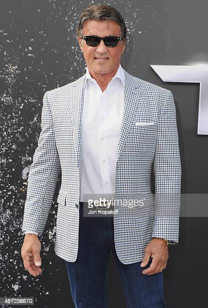 Sylvester Stallone arrives at the Los Angeles Premiere Terminator Genisys at Dolby Theatre on June 28 2015 in Hollywood California