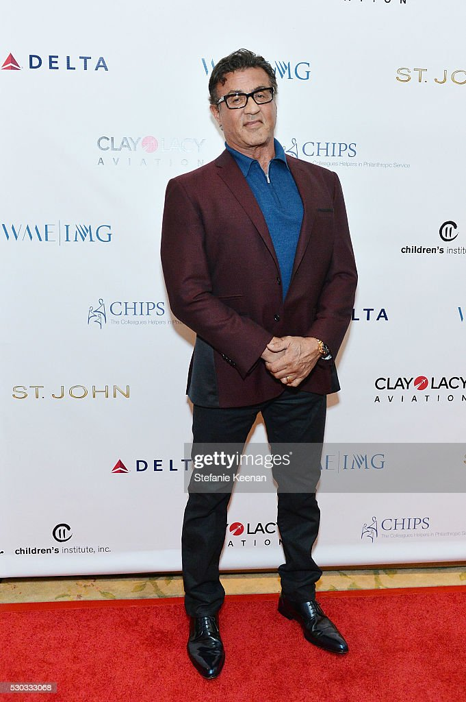 Sylvester Stallone attends CHIPS Luncheon Featuring St. John at Beverly Hills Hotel on May 10, 2016 in Beverly Hills, California.