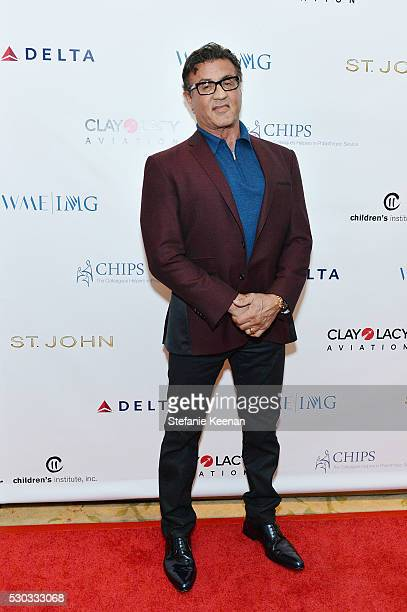 Sylvester Stallone attends CHIPS Luncheon Featuring St John at Beverly Hills Hotel on May 10 2016 in Beverly Hills California