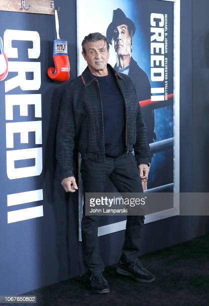 Sylvester Stallone attends Creed II New York Premiere at AMC Loews Lincoln Square on November 14 2018 in New York City