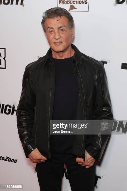 Sylvester Stallone attends Premiere Of One Night Joshua Vs Ruiz at Writers Guild Theater on November 21 2019 in Beverly Hills California