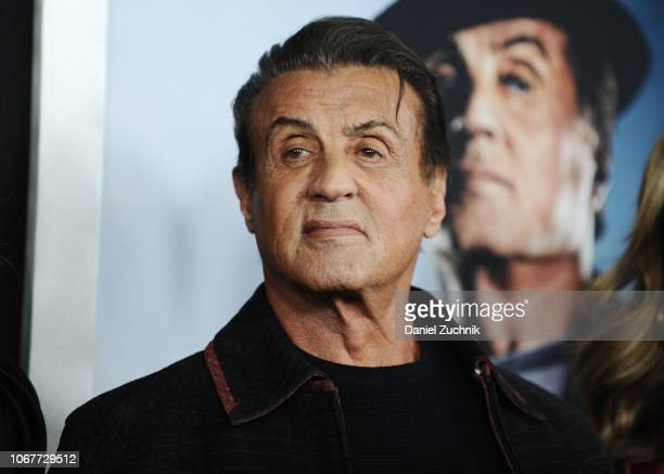 Sylvester Stallone attends the 'Creed II' New York Premiere at AMC Loews Lincoln Square on November 14 2018 in New York City
