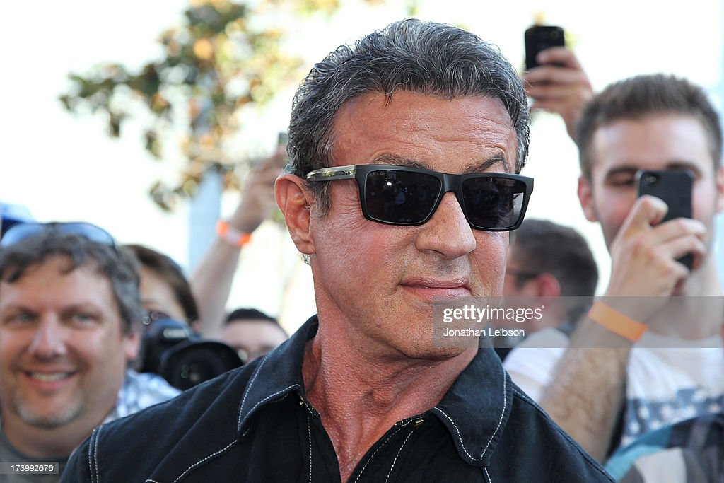Sylvester Stallone attends the 'Escape Plan' Premiere - Comic-Con International 2013 at Reading Cinemas Gaslamp on July 18, 2013 in San Diego, California.