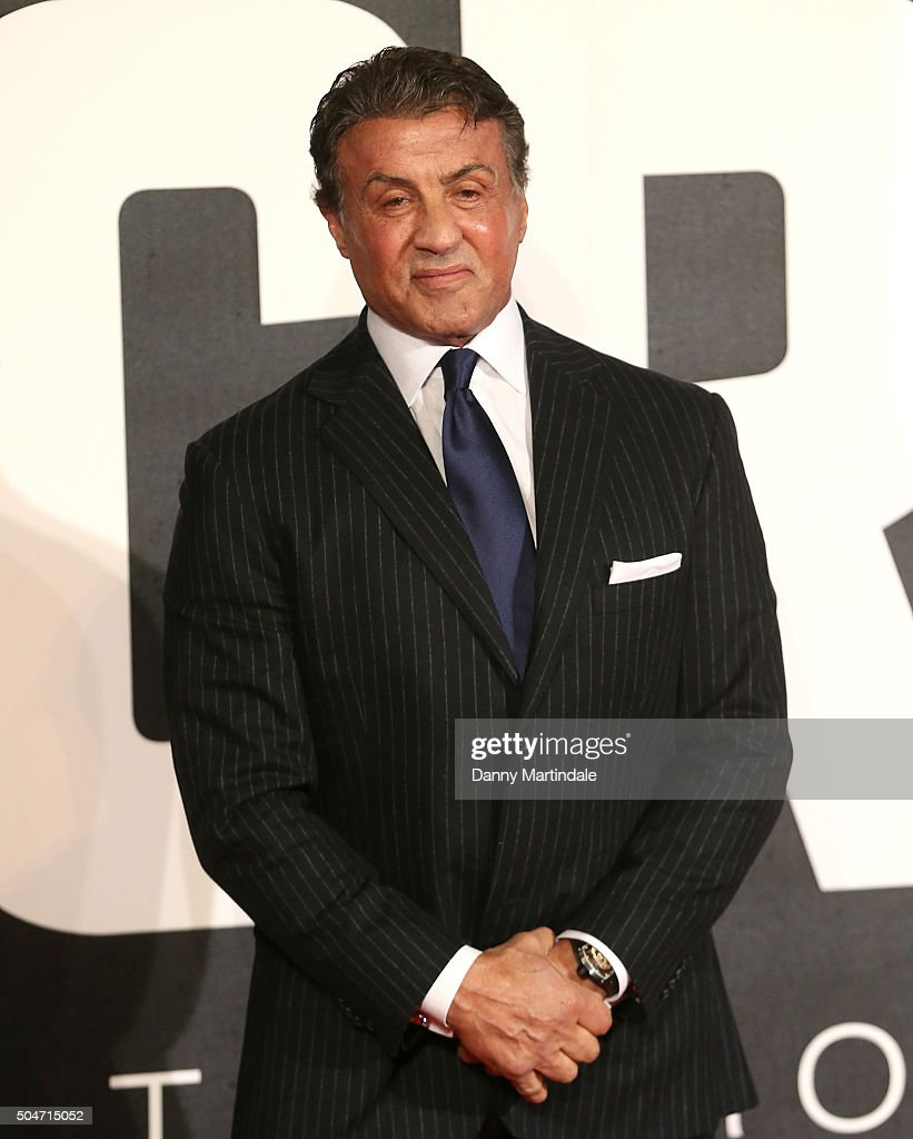 Sylvester Stallone attends the European Premiere of 'Creed' on January 12, 2016 in London, England.