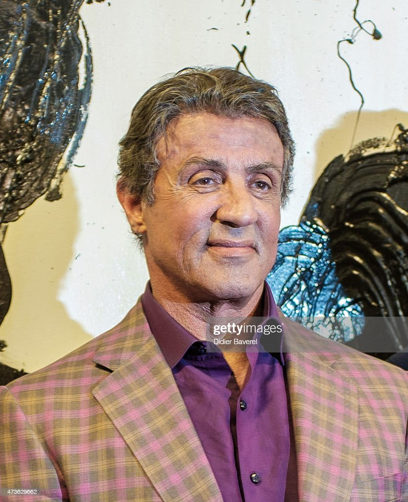 Sylvester Stallone Opens  Nice Exhibition : News Photo
