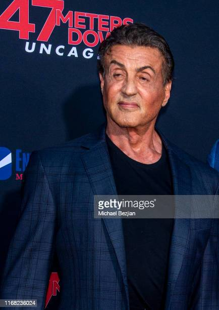 Sylvester Stallone attends the LA Premiere of 47 Meters Down UNCAGEDon August 13 2019 in Los Angeles California