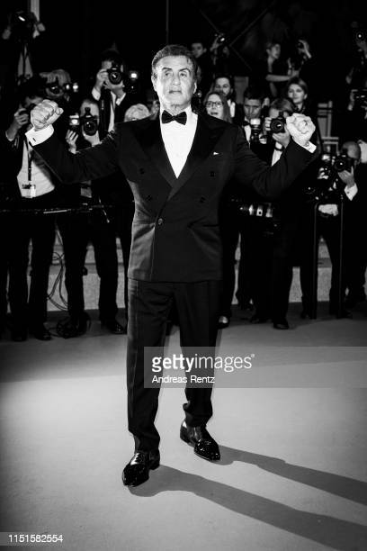 "Sylvester Stallone attends the screening of ""Rambo - Last Blood"" during the 72nd annual Cannes Film Festival on May 24, 2019 in Cannes, France."