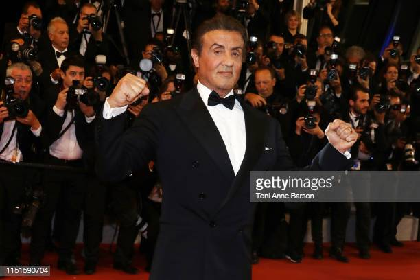 Sylvester Stallone attends the screening of Rambo Last Blood during the 72nd annual Cannes Film Festival on May 24 2019 in Cannes France