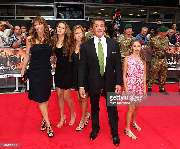 Sylvester Stallone attends the UK film premiere of The Expendables 2 on August 13 2012 in London United Kingdom
