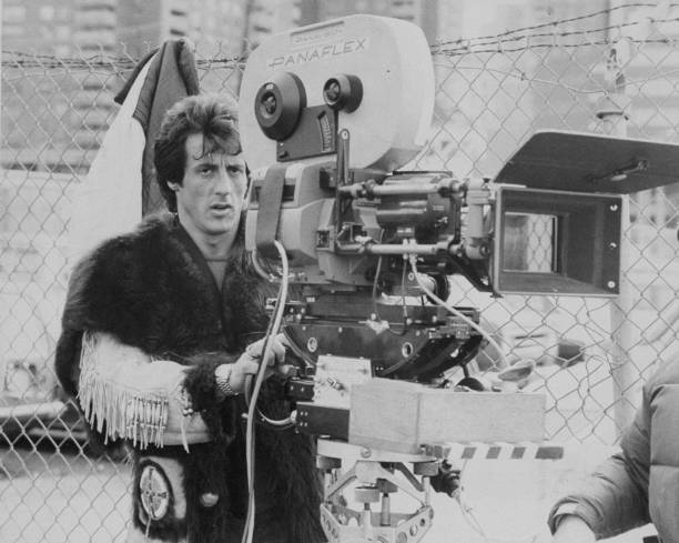 "Sylvester Stallone Directing The Film ""Staying Alive,"" The S Wall Art"