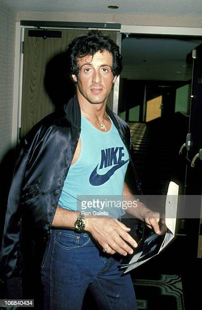 Sylvester Stallone during Frank Stallone and Sylvester Stallone Sighting at the Lee Canalito vs Curtis Whitner Boxing Match July 6 1982 at Tropicana...