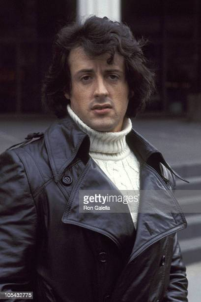 Sylvester Stallone during New York Premiere of 'Rocky' at Paramount Theater in New York City New York United States