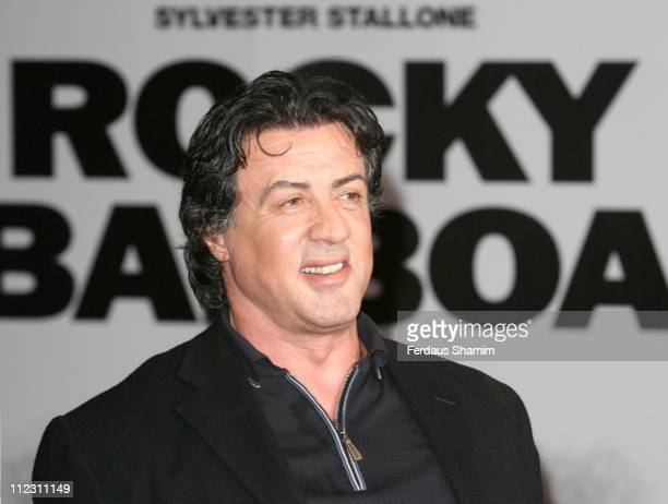 Sylvester Stallone during Rocky Balboa London Premiere Red Carpet Arrivals at Vue West End in London United Kingdom