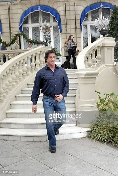 Sylvester Stallone during Rocky Balboa Madrid Photocall January 8 2007 at The Ritz Hotel in Madrid Spain