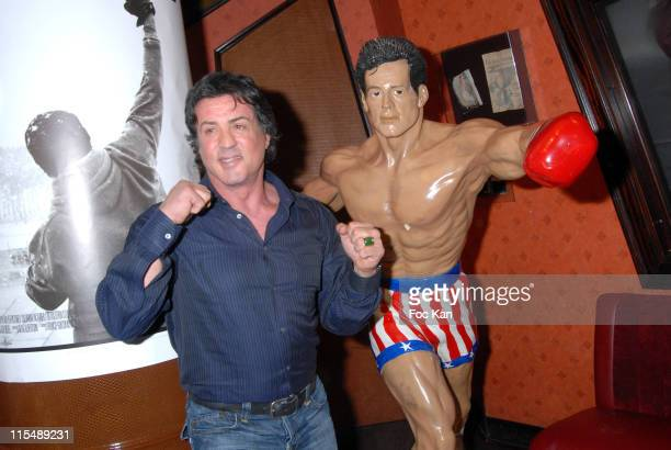 Sylvester Stallone during Rocky Balboa Paris Event Cocktail Party at Planet Hollywood in Paris France