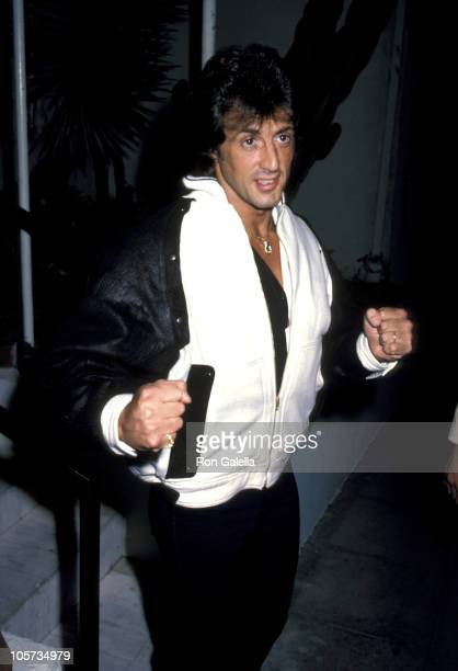 Sylvester Stallone during Sylvester Stallone Sighting at Spago's Restaurant in Hollywood March 8 1984 at Spago's Restaurant in Hollywood California...