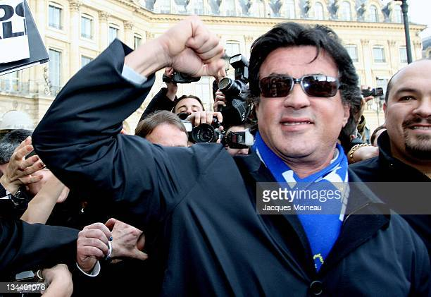 Sylvester Stallone during Sylvester Stallone Sighting in Paris January 15 2007 at Ritz Hotel in Paris France