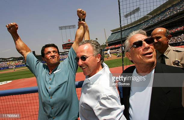 Sylvester Stallone Frank McCourt owner of the Los Angeles Dodgers and Donald Sterling owner of the Los Angeles Clippers