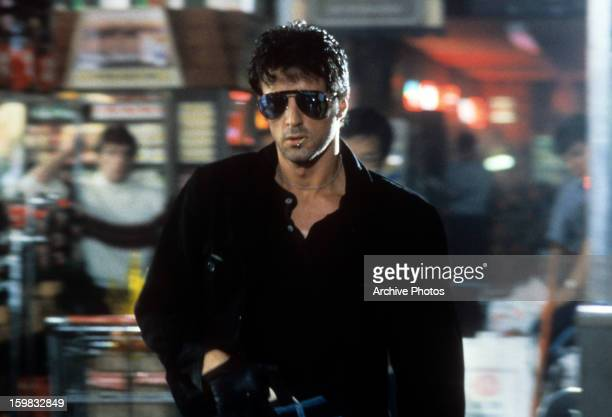 Sylvester Stallone in a scene from the film 'Cobra' 1986