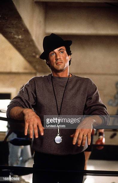Sylvester Stallone in a scene from the film 'Rocky V' 1990