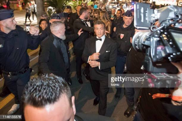 Sylvester Stallone is seen during the 72nd annual Cannes Film Festival on May 24 2019 in Cannes France