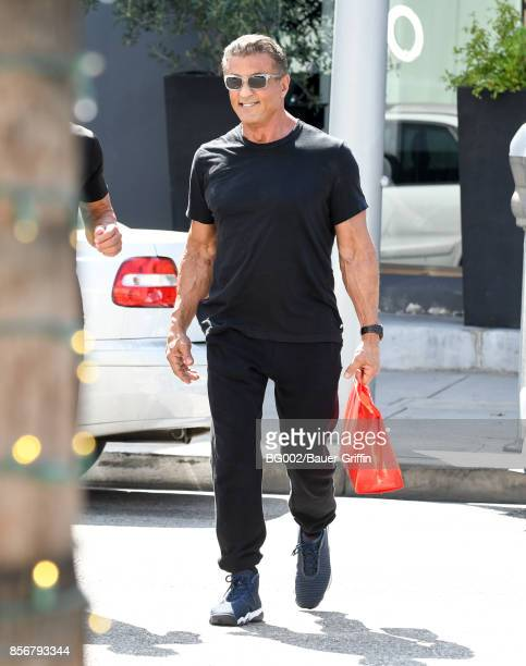 Sylvester Stallone is seen on October 02 2017 in Los Angeles California