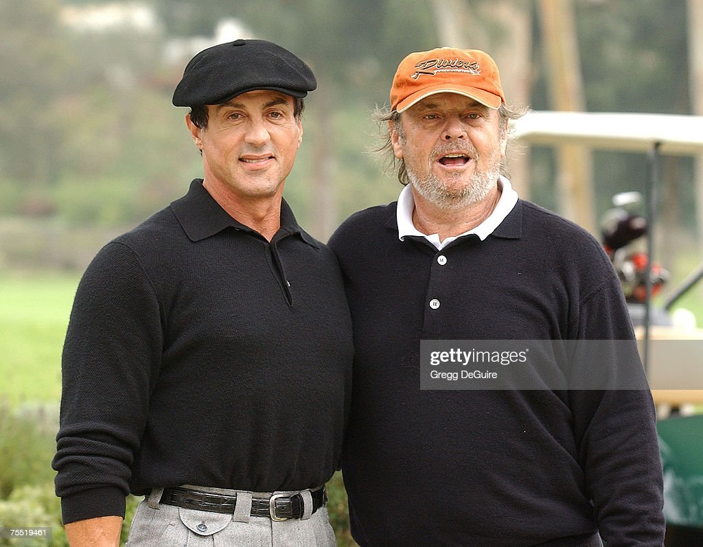 Sylvester Stallone & Jack Nicholson at the Riviera Country Club in Pacific Palisades, California