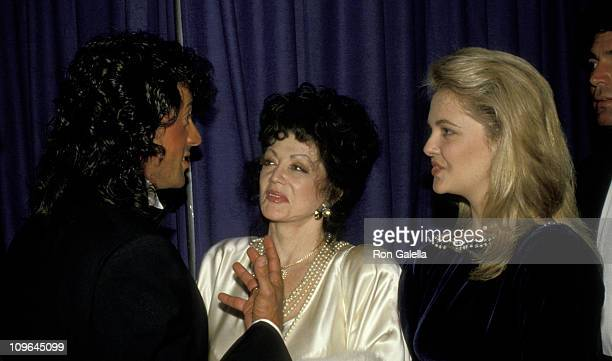 Sylvester Stallone Jackie Stallone and Cornelia Guest