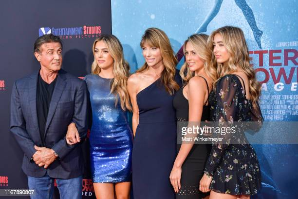 Sylvester Stallone Sistine Rose Stallone Jennifer Flavin Sophia Rose Stallone and Scarlet Rose Stallone attends the LA Premiere of Entertainment...