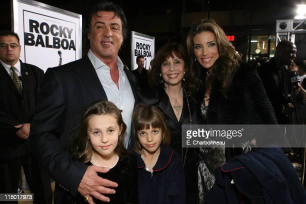 Sylvester Stallone Sophia Stallone Sistine Stallone Talia Shire and Jennifer Flavin