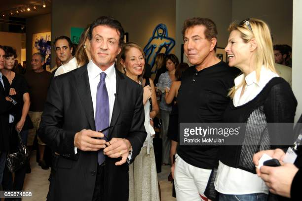 Sylvester Stallone Steve Wynn and Andrea Hissom attend GALERIE GMURZYNSKA at Art Basel Miami Beach 2009 at Miami Beach Convention Center on December...