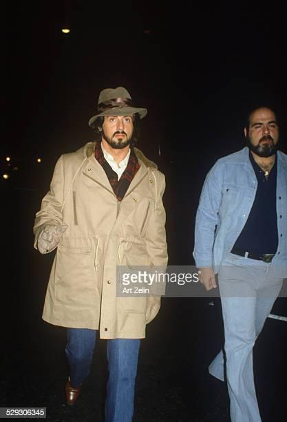 Sylvester Stallone with a bodyguard circa 1970 New York