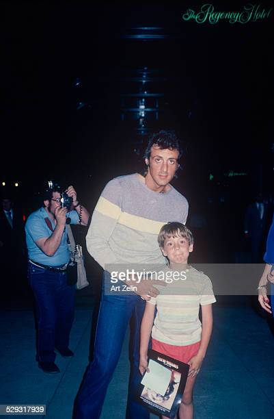 Sylvester Stallone with his son Steven Zelin circa 1970 New York