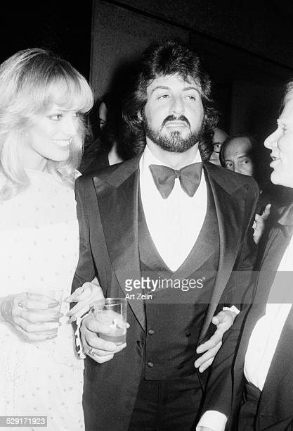 Sylvester Stallone with Susan Anton at a formal event circa 1970 New York